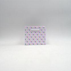 Noblesse personalisierte Papiertüte 16x8x14 cm | SAC PAPIER NOBLESSE | IMPRESSION OFFSET 4 FACES