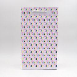 Noblesse personalisierte Papiertüte 22x10x38 cm | SAC PAPIER NOBLESSE | IMPRESSION OFFSET 4 FACES