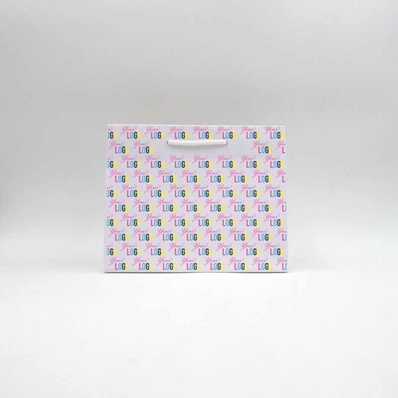 Noblesse personalisierte Papiertüte 25x11x20 cm | SAC PAPIER NOBLESSE | IMPRESSION OFFSET 4 FACES