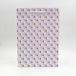 Noblesse personalisierte Papiertüte 26x12x37 cm | SAC PAPIER NOBLESSE | IMPRESSION OFFSET 4 FACES