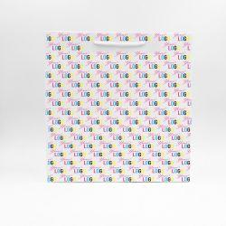 Noblesse personalisierte Papiertüte 36x12x37 cm | SAC PAPIER NOBLESSE | IMPRESSION OFFSET 4 FACES