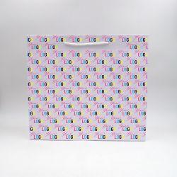 Noblesse personalisierte Papiertüte 40x14x35 cm | SAC PAPIER NOBLESSE | IMPRESSION OFFSET 4 FACES