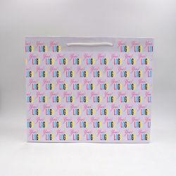 Noblesse personalisierte Papiertüte 42x15x35 cm | SAC PAPIER NOBLESSE | IMPRESSION OFFSET 4 FACES