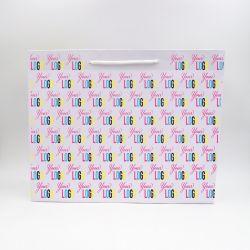 Noblesse personalisierte Papiertüte 45x14x36 cm | SAC PAPIER NOBLESSE | IMPRESSION OFFSET 4 FACES
